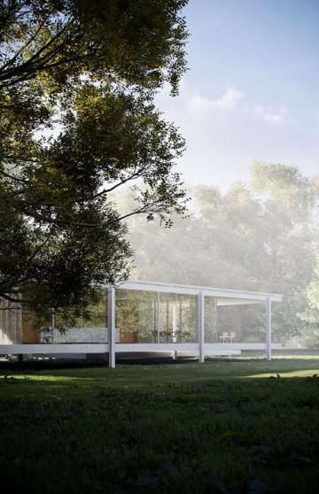 La Farnsworth House : Mies van der Rohe : LESS IS MORE