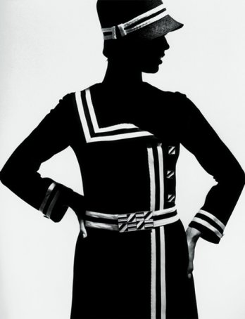 Op Art Silhouette_Jersey coat by Lend, Paris 1966_F.C. Gundlach.