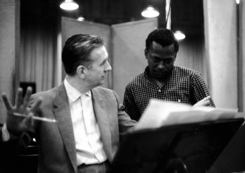 Miles Davis/with Gil Evans, recording the album Miles Ahead, Columbia Studio, 1957_Don Hunstein_Sony Music Entertainement