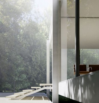 Farnsworth House by Mies van der Rohe, Ext_Peter Guthrie