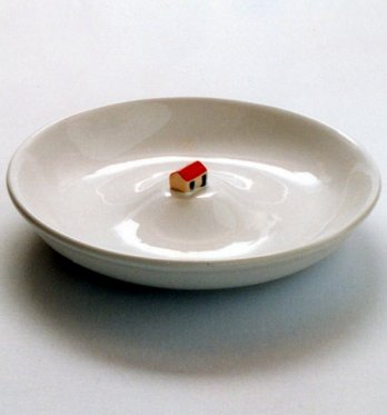 Patrick Martinez/white Soup Bowl, 1995