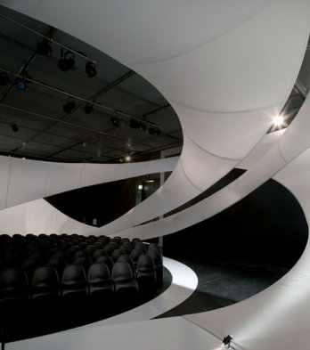 Verner Panton/Panton chairs_JS Bach - Zaha Hadid Architects Chamber Music Hall at Manchester Art Gallery_Zaha Hadid Architects + Luke Hayes