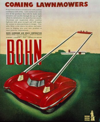 Arthur Radebaugh, Advertising Coming Lawnmowers, 1940 - 1945_Denis Farley_Montréal_Canada