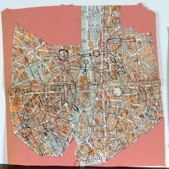 Guy Debord_Carte de Paris_France
