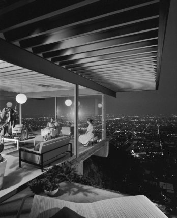 Case Study House #22 de Pierre Koenig, Los Angeles, Californie, par Julius Shulman 1960.
