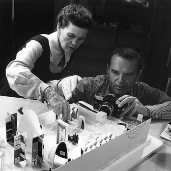Ray & Charles Eames working_San Francisco_USA