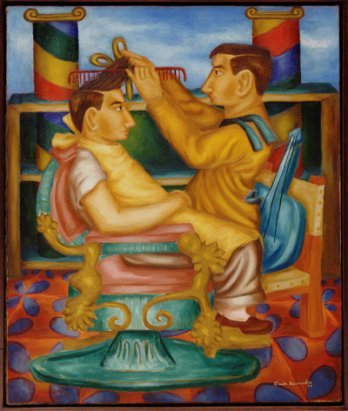 Cundo Bermudez, Barberia (The barber shop), 1942_The Museum of Modern Art/SCALA/Art Resource NY