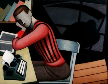 Marcelo Pocolotti, The intellectual or The young intellectual, 1937_Rodolfo Martinez
