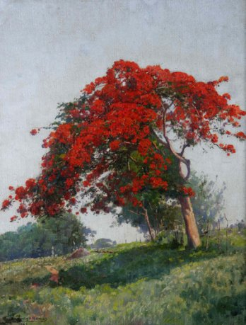 Domingo Ramos, The flamboyant tree, 1949_Rodolfo Martinez