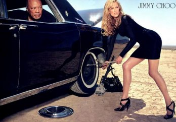 Quincy Jones and Molly, Jimmy Choo Fragrance, 2009 ad