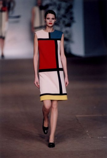 Yves Saint-Laurent_Cocktail Dress, Homage to Mondrian_1965 Fall/Winter Collection, number 81_Fondation Pierre Berg� - Yves Saint-Laurent