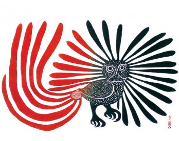 Kenojuak Ashevak_The Enchanted Owl, 1960