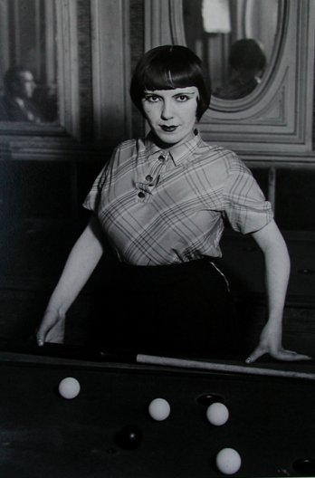 Brassaï_Girl playing snooker