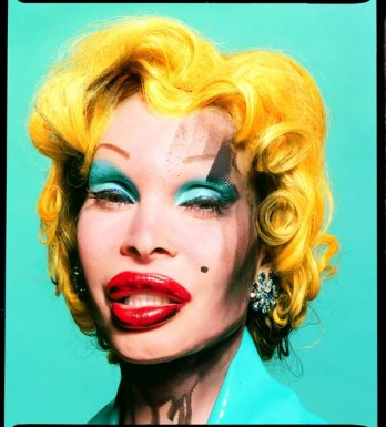 David Lachapelle/Amanda as Andy Warhols Marilyn_2002