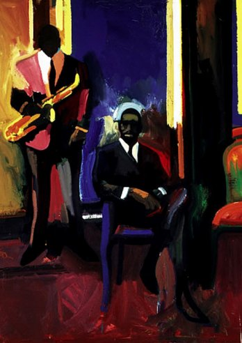 James Weeks_Two Musicians, 1960_Thomas W. Weisel Fund