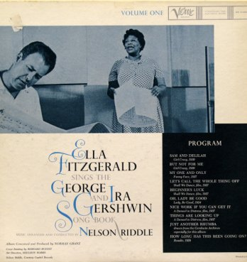 Bernard Buffet_Ella Fitzgerald Sings the George and Ira Gershwin Song Book. Nelson Riddle_Volume One to Five, 1959_Verve MG V-4024-4028.
