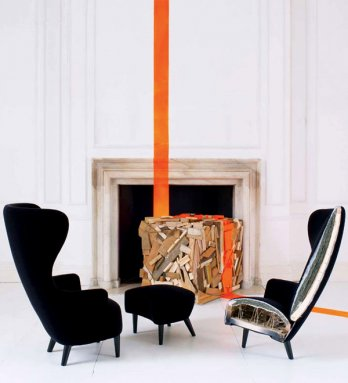 Tom Dixon by George Smith/Wingback chair & Footstool