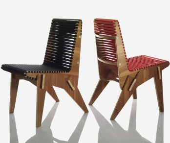 Abbott Miller_chair whose components can be shipped flat and dry-assembled with a rubber mallet_Jay Zukerkorn