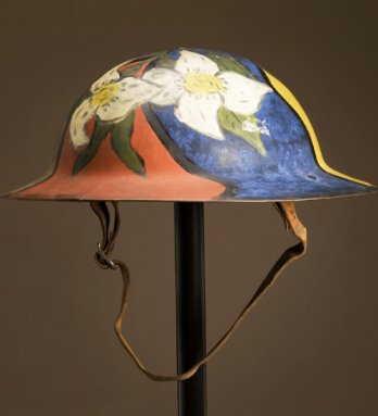 Helmet, Hand-Painted Disruptive Pattern Design, United States, 1914-1918