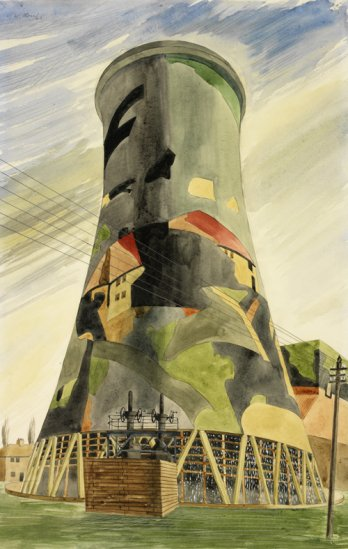 The Big Tower_Camouflaged Painted by Colin Moss in 1943_Imperial War Museum