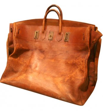 Giant Hermès Birkin Leather Travel Bag, 1940