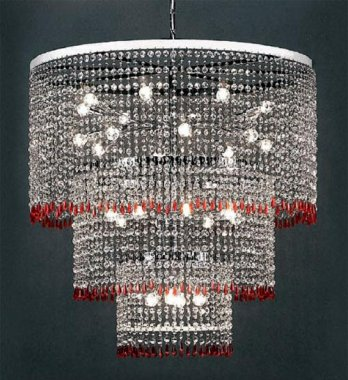 Chromed lamp with Swarovski spectra crystals